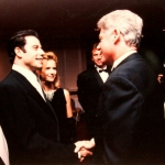 Meeting with President Clinton